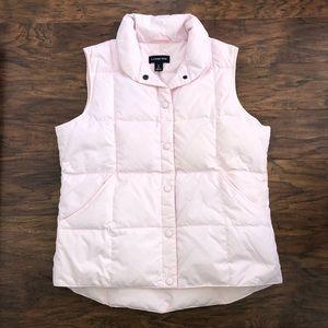 Lands' End Pink Puffer Vest